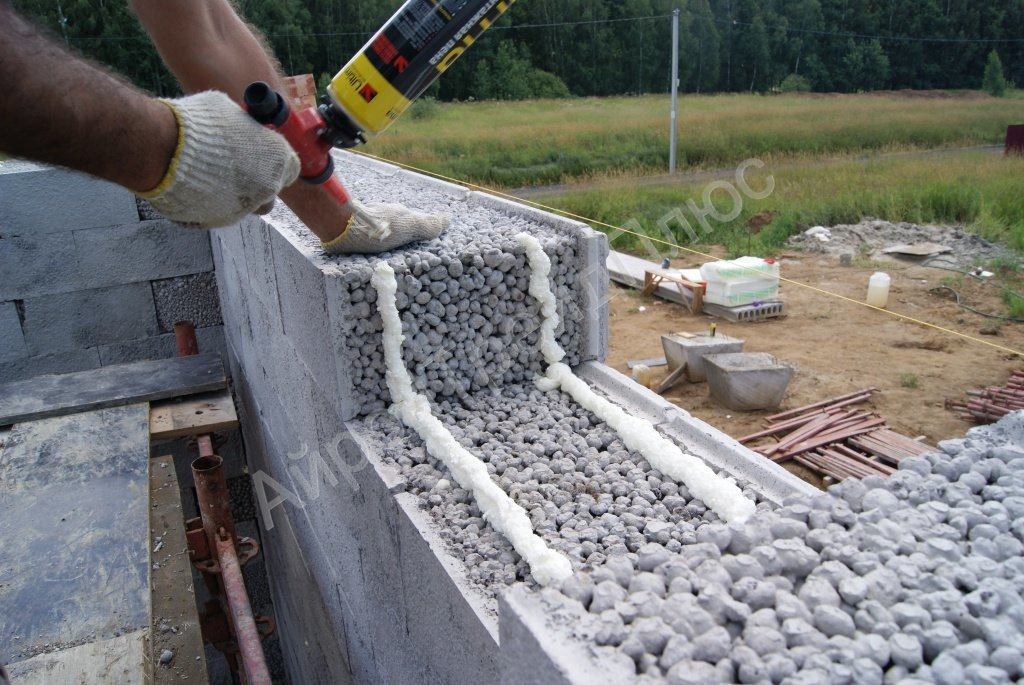 Керамзитобетон кладка армирование виды раковин на бетоне