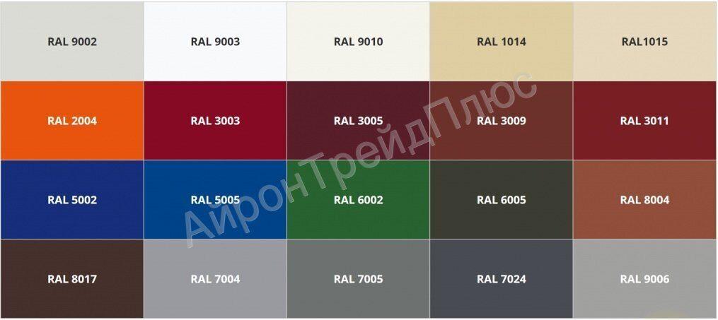цвета профнастила RAL
